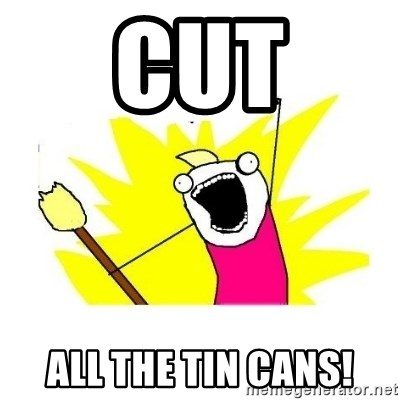 clean all the things blank template - CUT ALL THE TIN CANS!