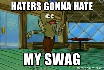Haters Gonna Hate - HATERS GONNA HATE  MY SWAG