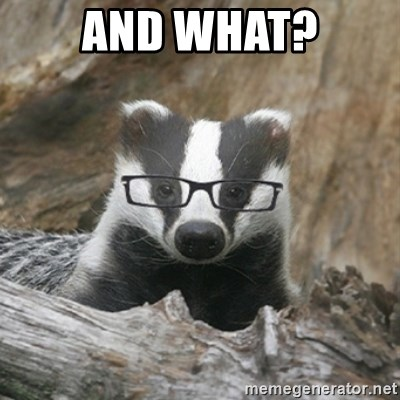 Nerdy Badger - And WHAT?