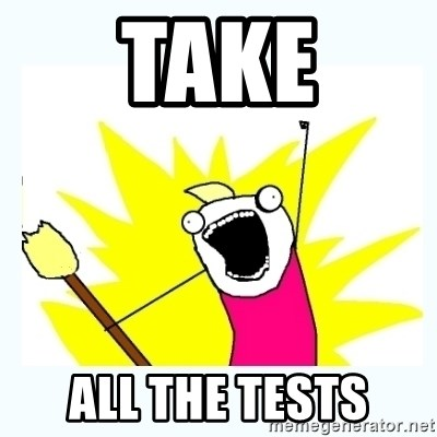 All the things - take all the tests