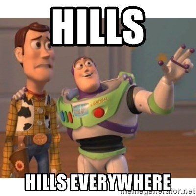 Toy story - Hills Hills everywhere
