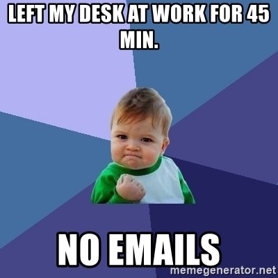 Success Kid - Left my desk at work for 45 min. No emails