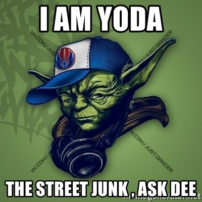 Street Yoda - I AM YODA  THE STREET JUNK , ASK DEE