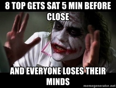 joker mind loss - 8 TOP GETS SAT 5 MIN BEFORE CLOSE and everyone loses their minds