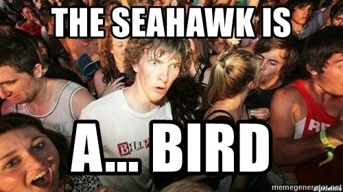 -Sudden Clarity Clarence - the seahawk is a... bird