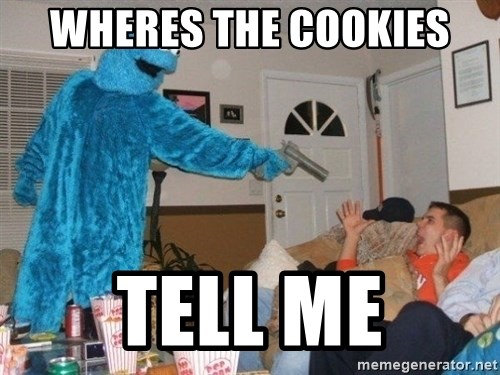 Bad Ass Cookie Monster - WHERES THE COOKIES TELL ME