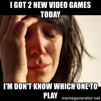 crying girl sad - I GOT 2 NEW VIDEO GAMES TODAY I'M DON'T KNOW WHICH ONE TO PLAY