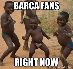 african children dancing - barca fans  right now