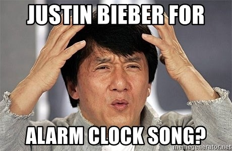 Jackie Chan - justin bieber for ALARM CLOCK SONG?