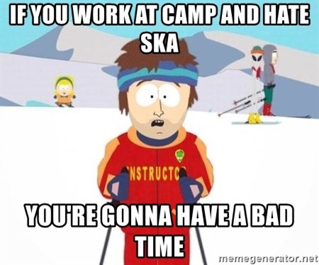 South Park Ski Teacher - if you work at camp and hate ska you're gonna have a bad time