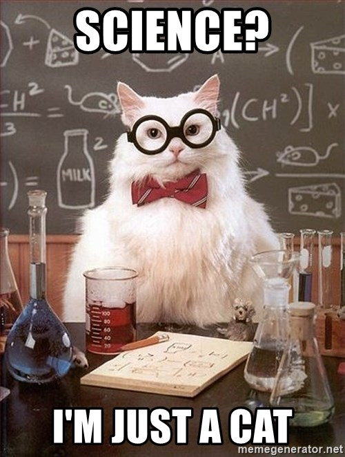 Science Cat - Science? I'm just a cat