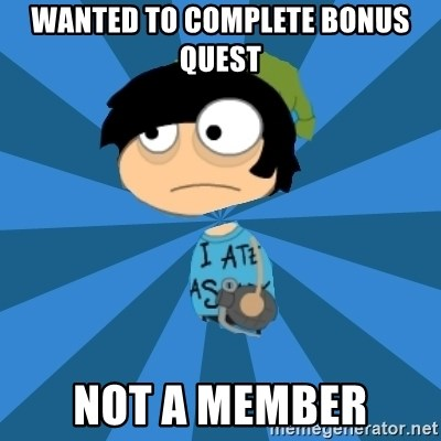 Poptropican - Wanted to complete bonus quest not a member
