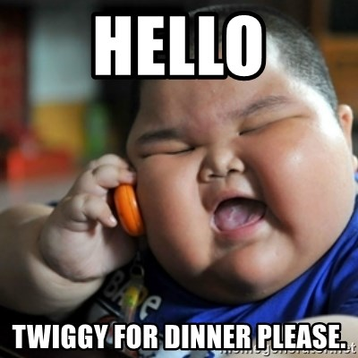fat chinese kid - hello twiggy for dinner please.