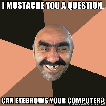 Provincial Man - I Mustache you a question. can eyebrows your computer?