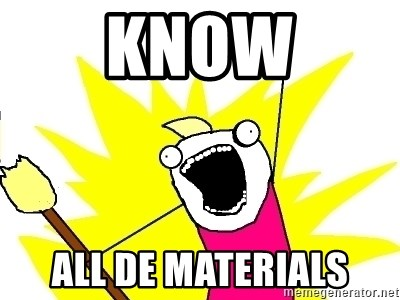 X ALL THE THINGS - know all de materials