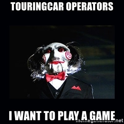 saw jigsaw meme - touringcar operators i want to play a game