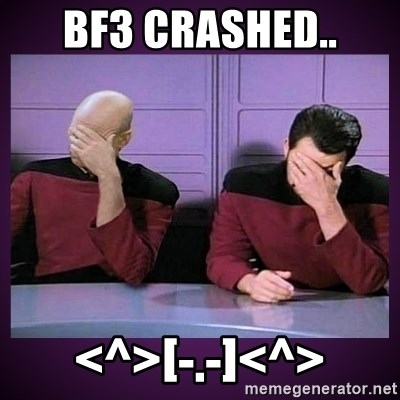 Double Facepalm - BF3 Crashed.. <^>[-.-]<^>