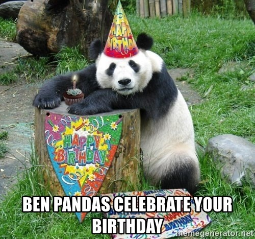 Happy Birthday Panda -  Ben pandas celebrate your birthday