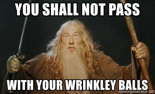 You shall not pass - YOU SHALL NOT PASS  WITH YOUR WRINKLEY BALLS
