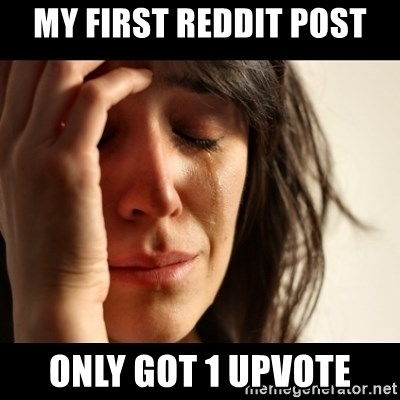 crying girl sad - my first reddit post only got 1 upvote