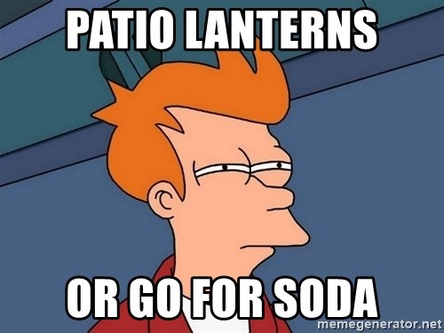 Futurama Fry - Patio Lanterns Or GO for soda