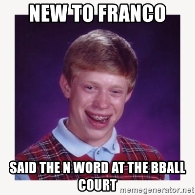 nerdy kid lolz - NEW TO FRANCO  SAID THE N WORD AT THE BBALL COURT