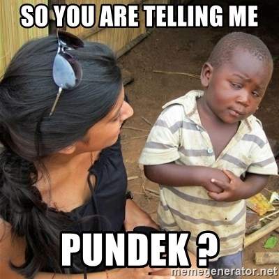 So You're Telling me - SO YOU ARE TELLING ME PUNDEK ?