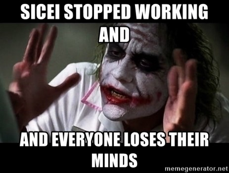 joker mind loss - sicei stopped working and  and everyone loses their minds