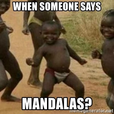 Black Kid - when someone says mandalas?