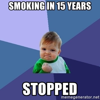 Success Kid - smoking in 15 years stopped