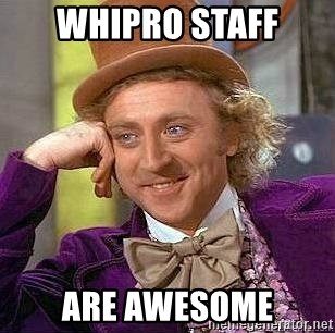 Willy Wonka - WHIPRO STAFF ARE AWESOME