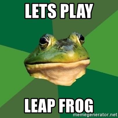 Foul Bachelor Frog - LETS PLAY LEAP FROG