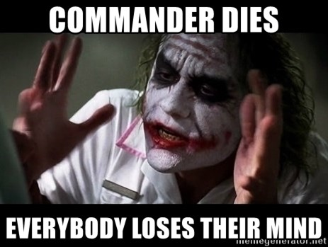joker mind loss - Commander dies everybody loses their mind