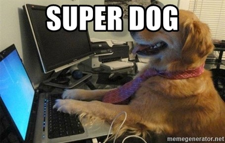 I have no idea what I'm doing - Dog with Tie - SUPER DOG
