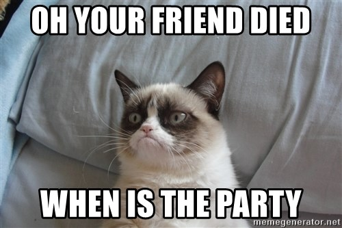 good grumpy cat 2 - oh your friend died when is the party