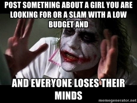 joker mind loss - POST SOMETHING ABOUT A GIRL YOU ARE LOOKING FOR OR A SLAM WITH A LOW BUDGET AND AND EVERYone Loses their minds