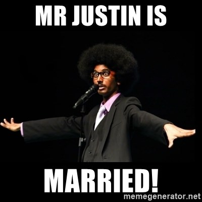 AFRO Knows - mr justin is married!