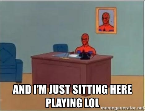 Spiderman Desk -   and i'm just sitting here playing lol