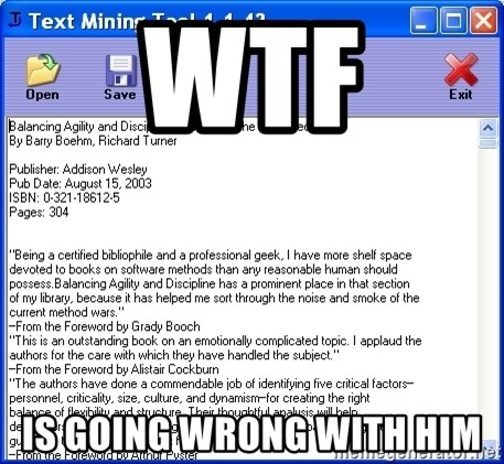Text - WTF IS Going wrong with him