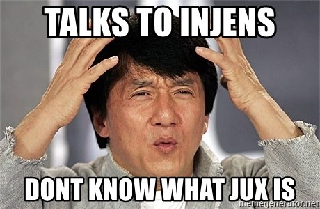 Jackie Chan - Talks to Injens Dont know what Jux is