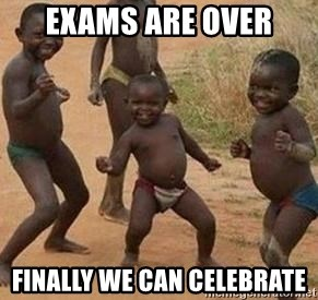 african children dancing - exams are over finally we can celebrate