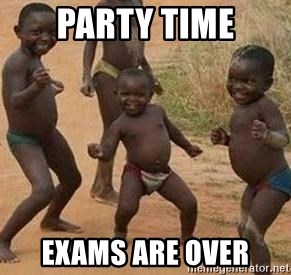 african children dancing - party time exams are over