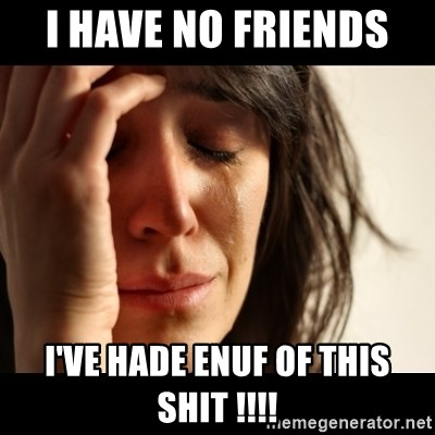 crying girl sad - I HAVE NO FRIENDS  I'VE HADE ENUF OF THIS SHIT !!!!