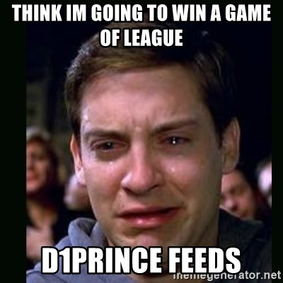 crying peter parker - Think im going to win a game of league d1prince feeds
