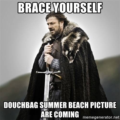 Game of Thrones - Brace Yourself Douchbag summer beach picture are comIng