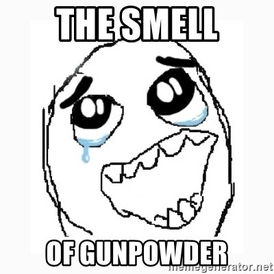 Happy Cry - the smell of gunpowder