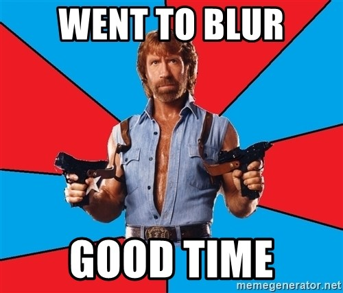 Chuck Norris  - Went to blur Good time