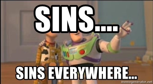 X, X Everywhere  - Sins.... Sins everywhere...