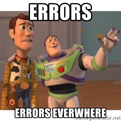 Toy story - Errors Errors everwhere