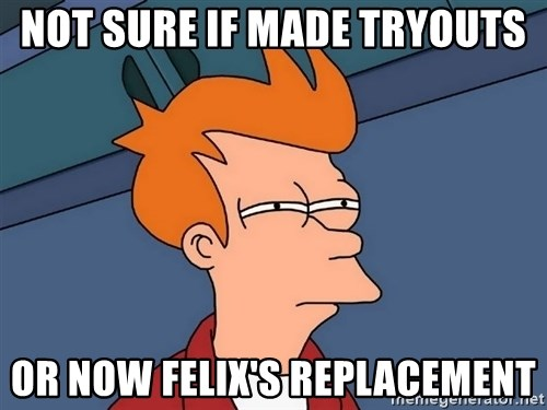 Futurama Fry - Not sure if made tryouts or now felix's replacement